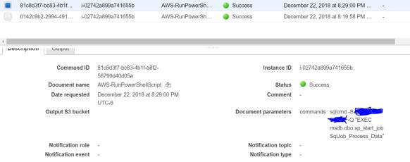 AWS S3—>AWS Lambda —>SSM—> SQL Server Job | Ramasankar
